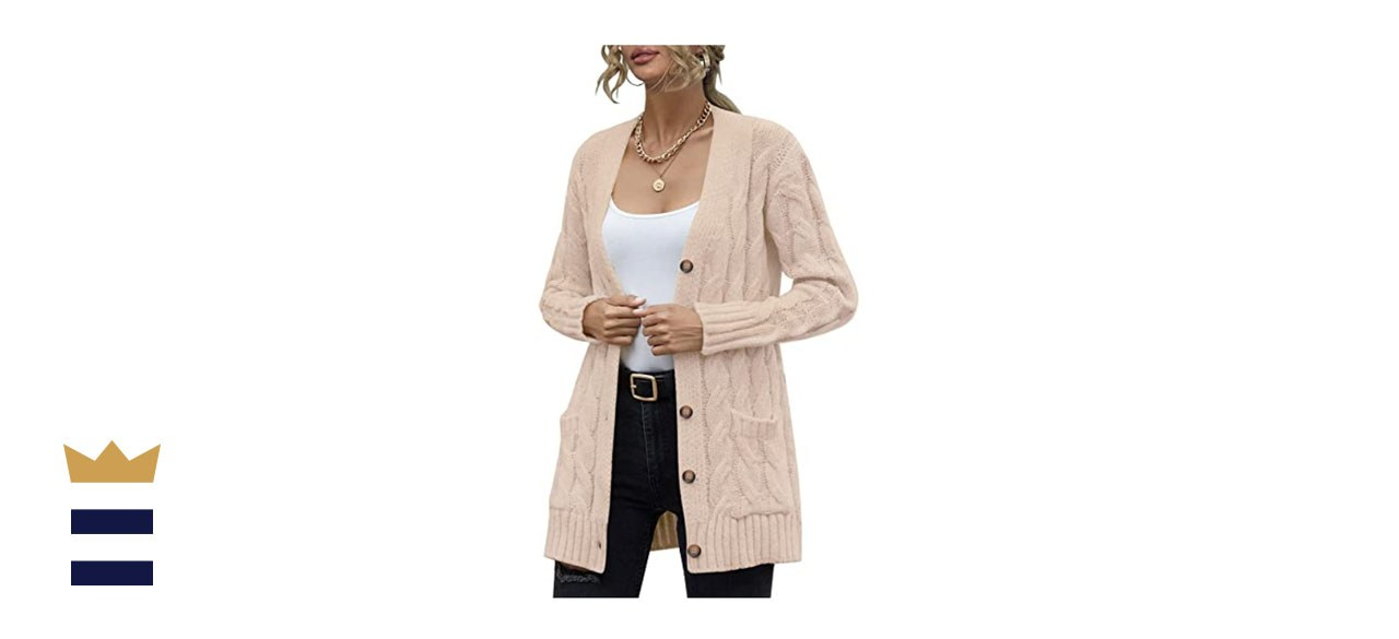 VALAV Womens Cable Knit Cardigan