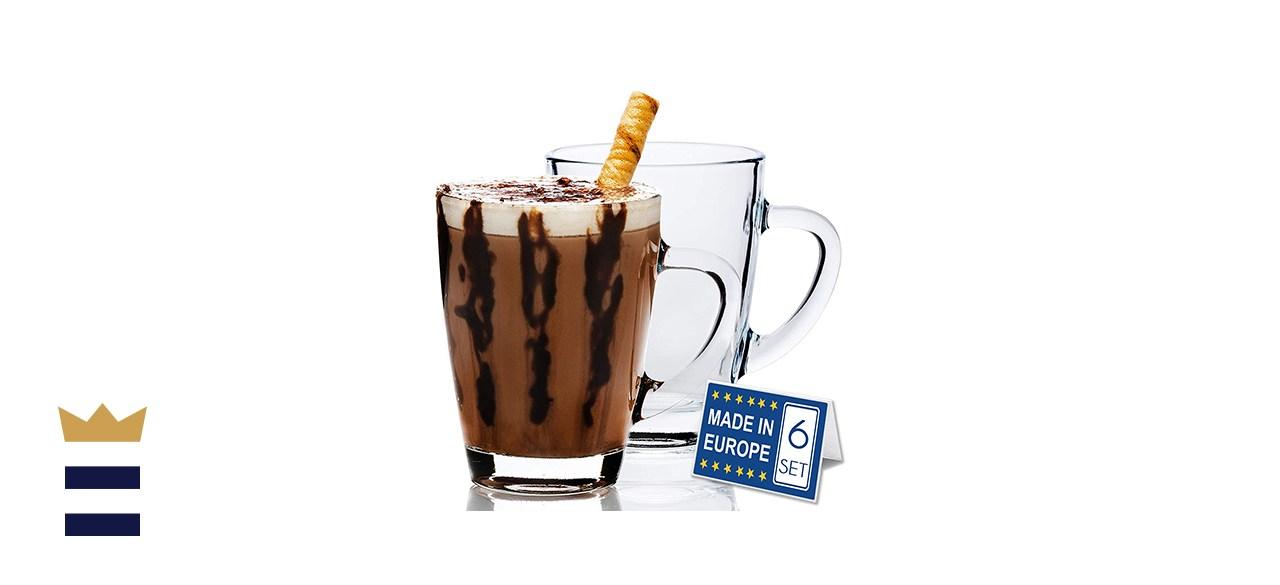Valerian 10 ½-oz. Glass Coffee Mugs