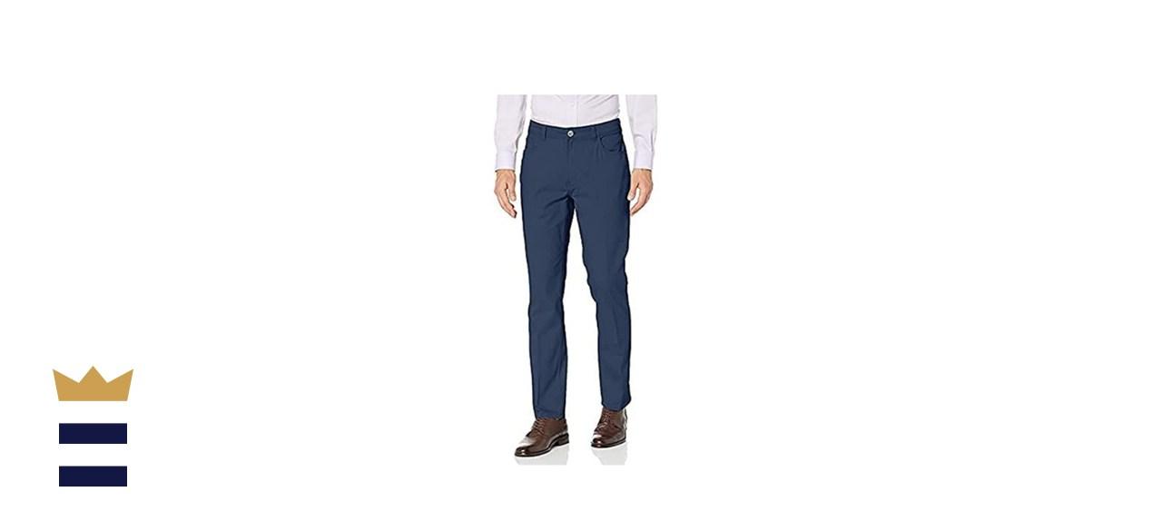 Van Heusen Men's Slim-Fit Stretch Flat-Front Traveler Pant