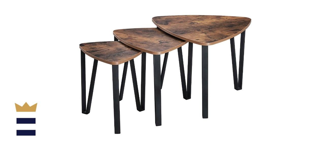 Vasagle industrial nesting coffee table set