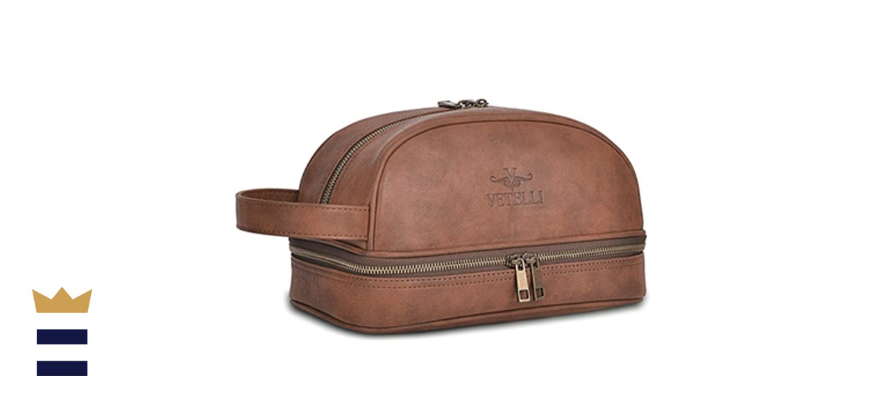 Vetellii Classic Leather Toiletry Bag