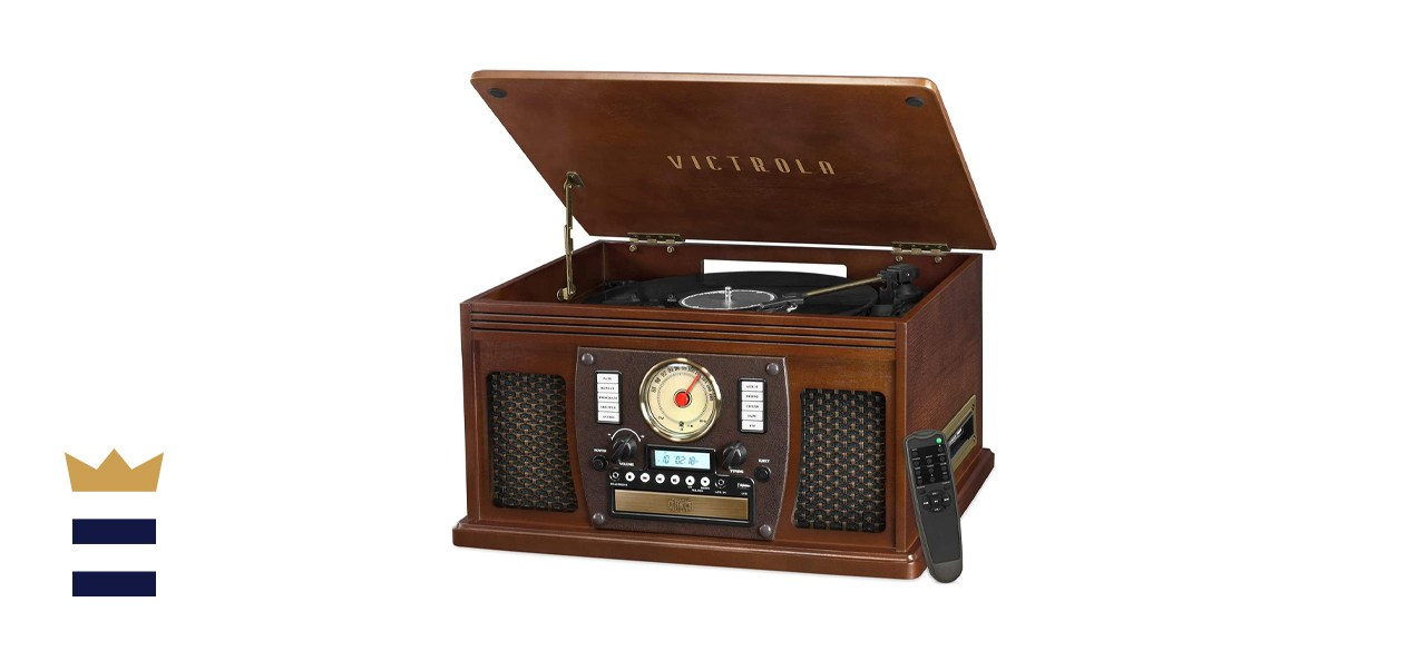 Victrola 8-in-1 Bluetooth Multimedia Center