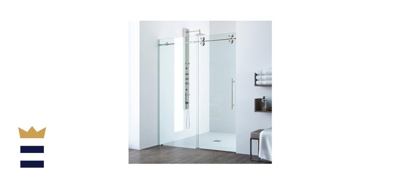 VIGO Frameless Sliding Rectangle Shower Door