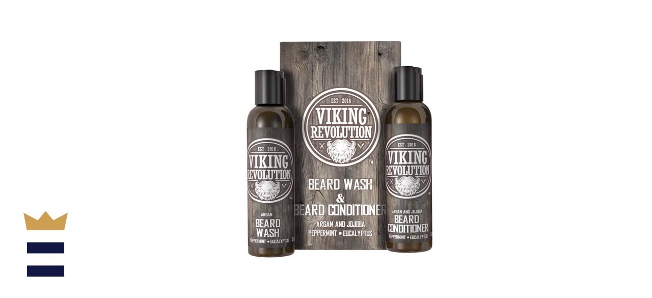 Viking Revolution Beard Wash and Beard Conditioning Set