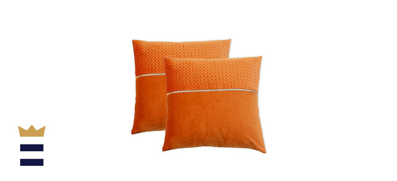 Vincenzo 20-Inch Square Throw Pillows in Umber (Set of 2)