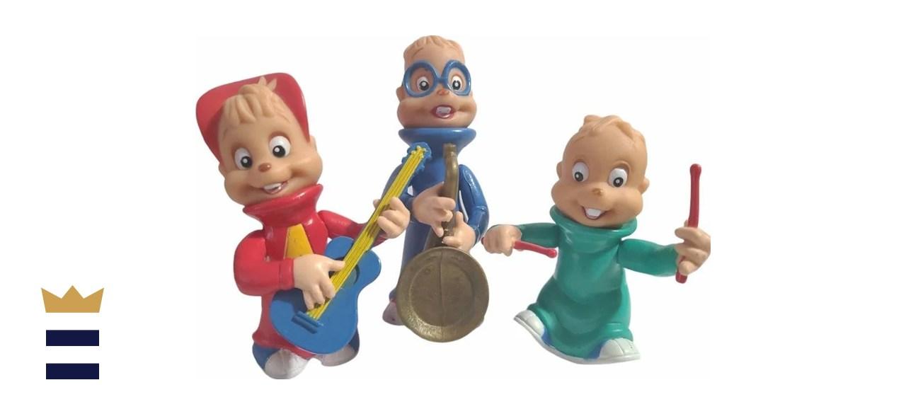 Vintage 90s Alvin and the Chipmunks Soft Rubber Figures