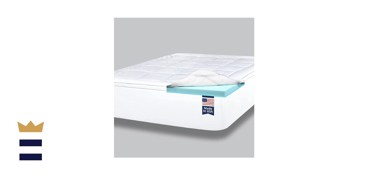 Viscosoft 4-Inch Dual-Layer Gel-Infused Mattress Topper