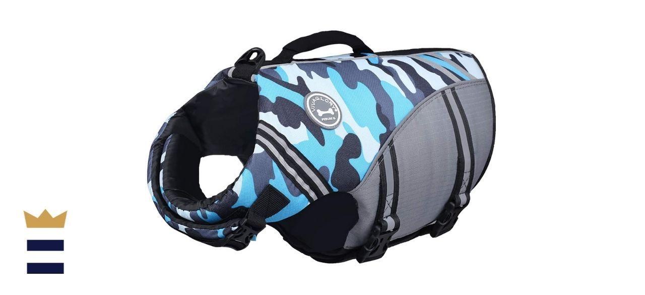 Vivaglory Sports-Style Ripstop Dog Life Jacket