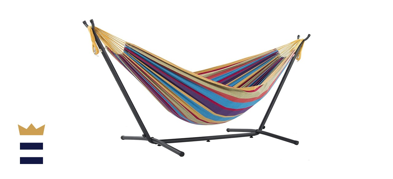 Vivere Double Cotton Hammock and Stand