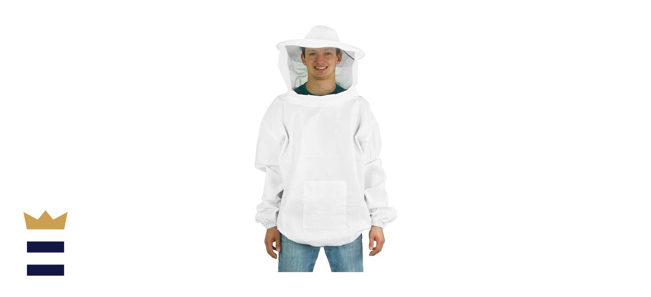 VIVO Professional Beekeeping Suit, Pullover Smock with Veil
