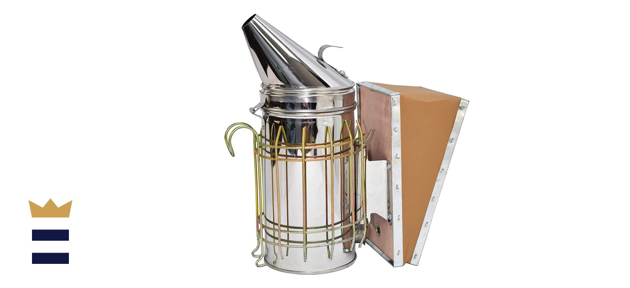 Vivo Stainless Steel Bee Hive Smoker with Heat Shield