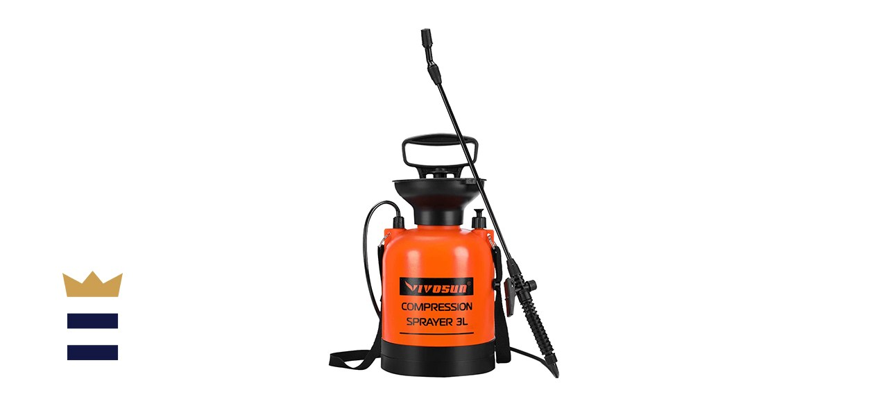 VIVOSUN 0.8 Gallon Lawn and Garden Pump Pressure Sprayer