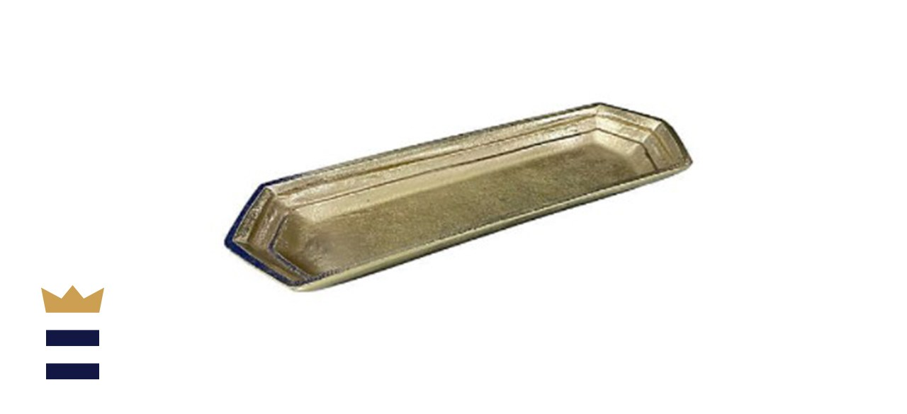 W Home Decorative Tray in Gold