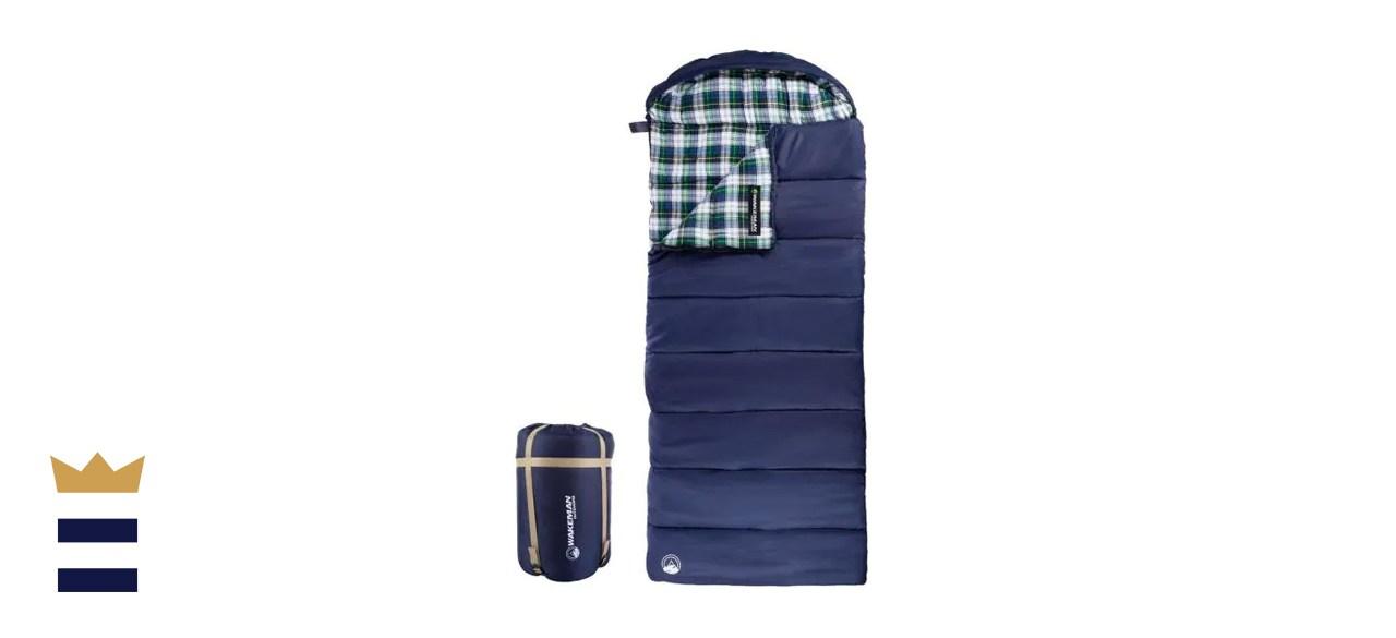 Wakeman Outdoors XL 3-Season Envelope Style Sleeping Bag