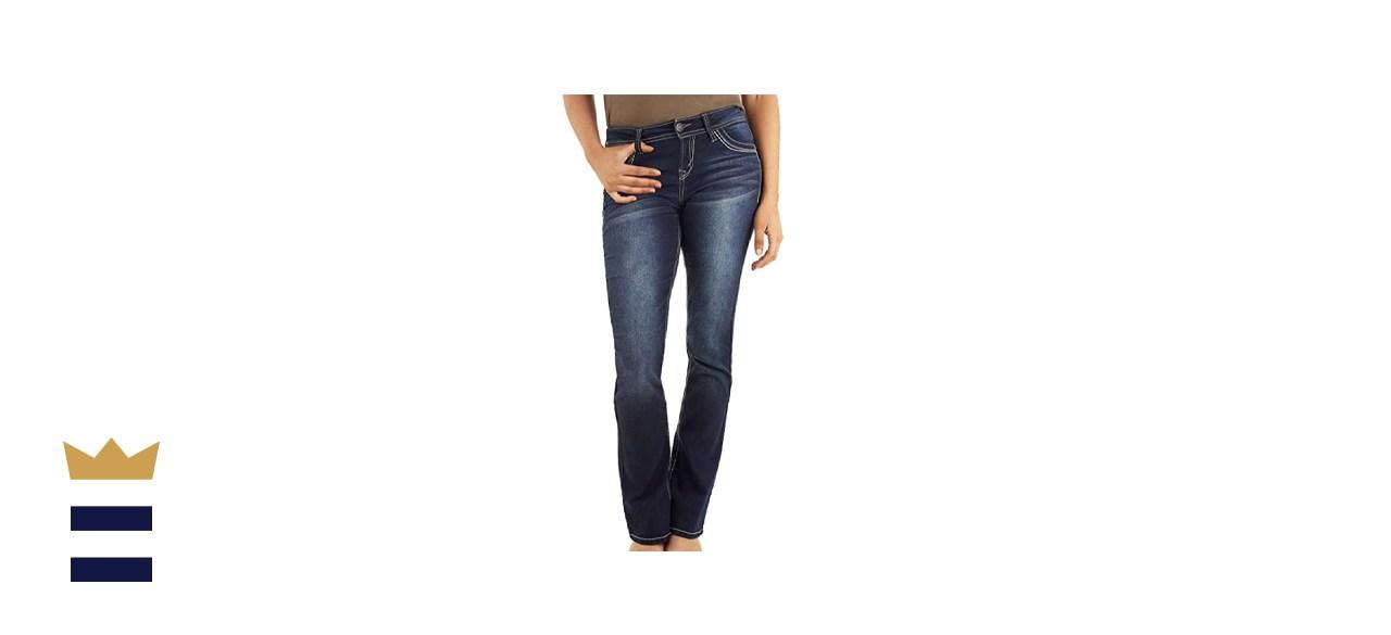 WallFlower Women's Juniors Legendary Stretch Bootcut Denim Jeans