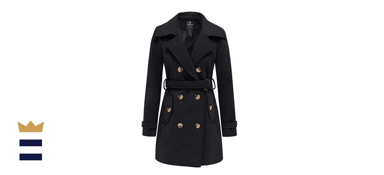 Wantdo Women's Double Breasted Pea Coat