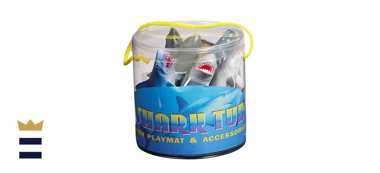 Warm Fuzzy Shark Toys Tub
