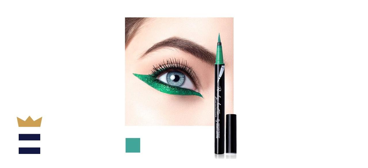 Waterproof High-Precision Liquid Eyeliner Pen in Green