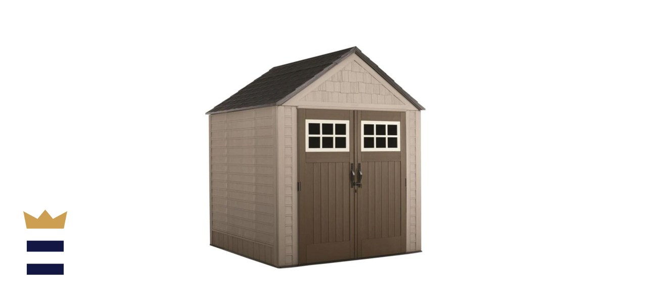 7 x 7-foot shed by Rubbermaid