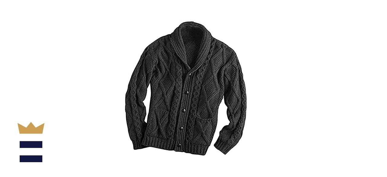 West End Knitwear Irish Merino Wool Aran Sweater