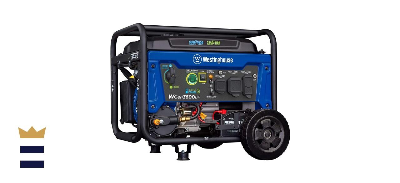 Westinghouse Outdoor Power Equipment QGen3600DF Dual-Fuel Electric-Start Portable