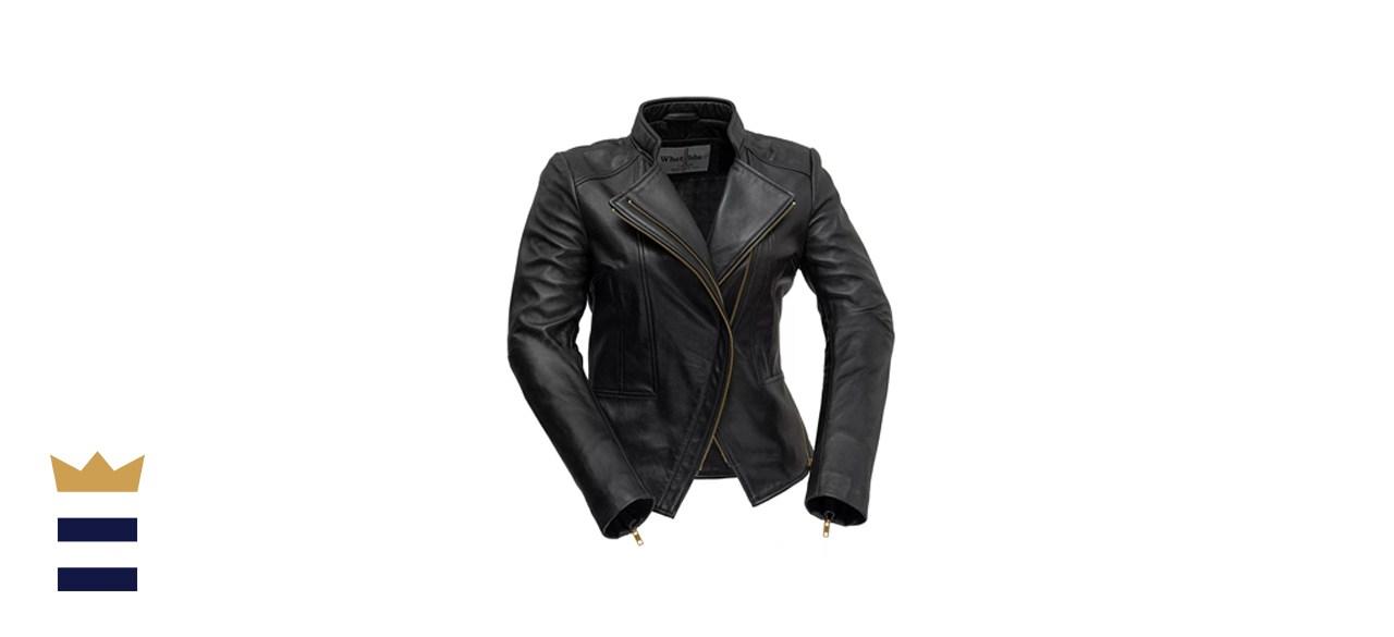 Whet Blu Zoey Asymmetrical Leather Blazer