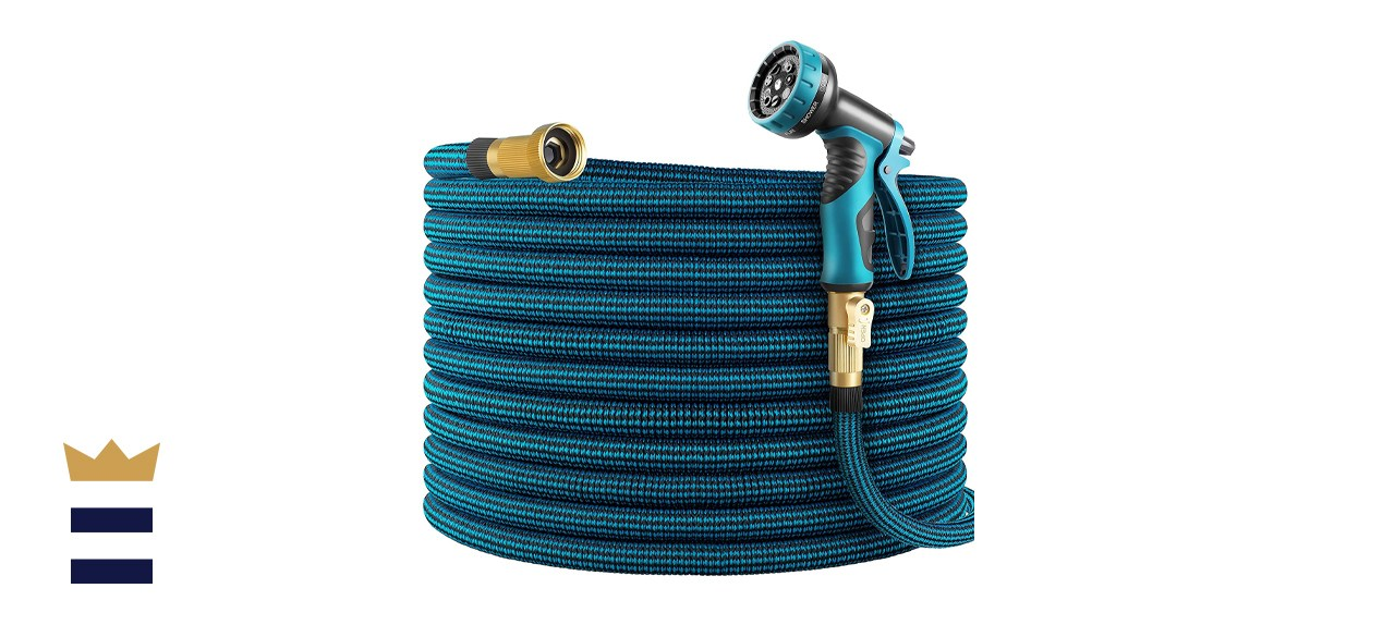 WHIMSWIT 100-Foot Expandable Garden Hose with Spray Nozzle