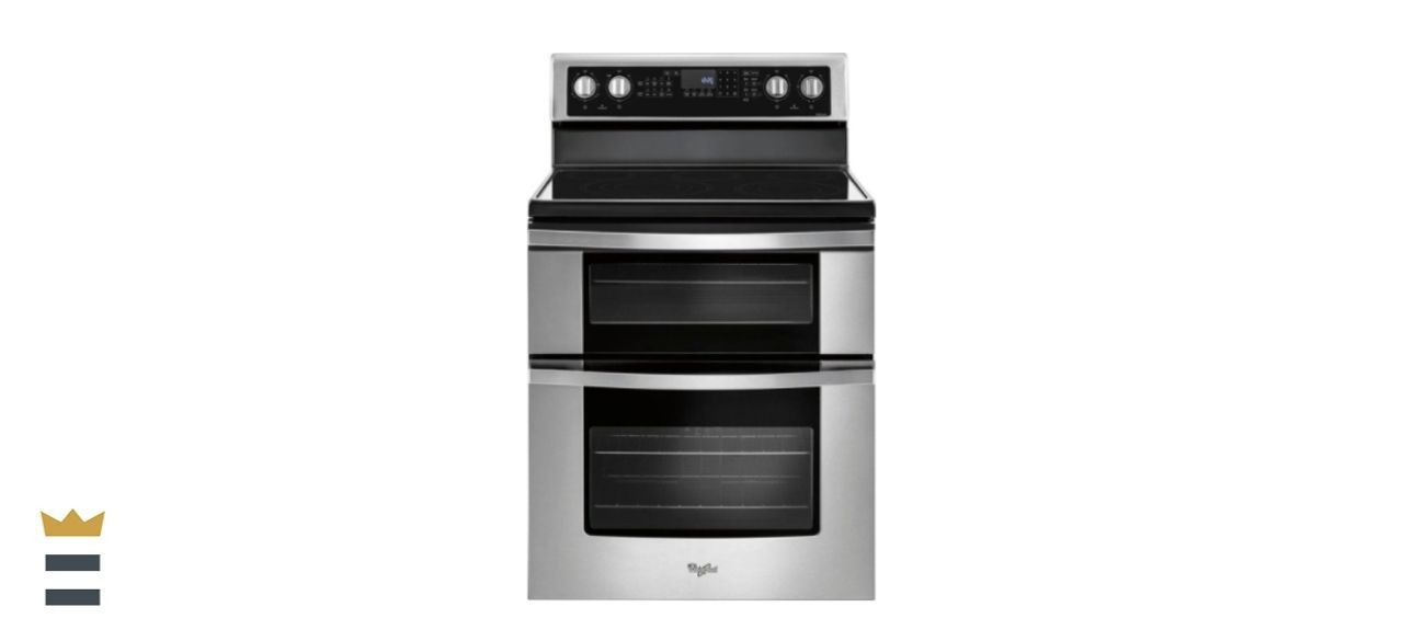 Whirlpool 6.7-Cubic Foot Double Oven Electric Range with True Convection