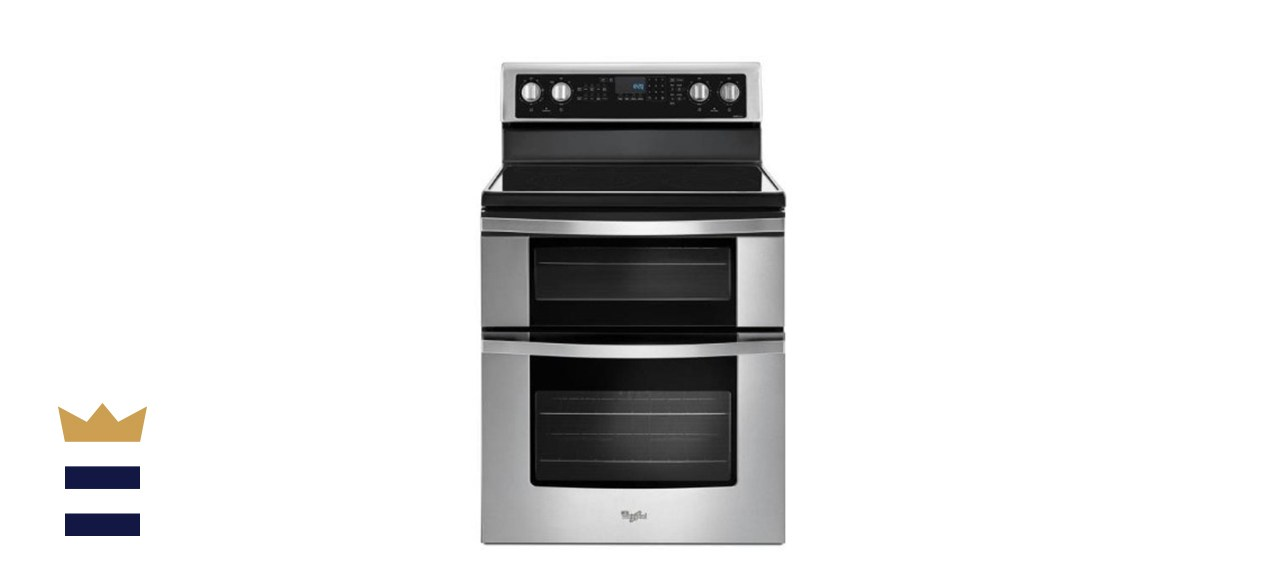 Whirlpool 6.7 Cubic Foot Double Oven Electric Range with True Convection