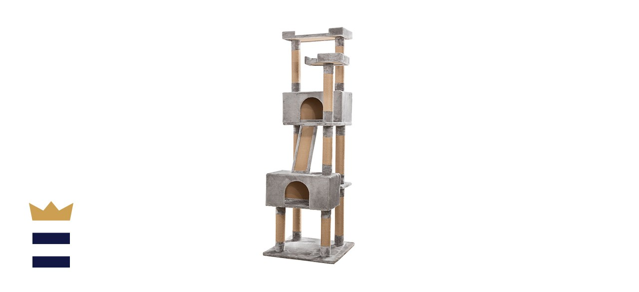 Whisker City Plush Mansion Cat Tower