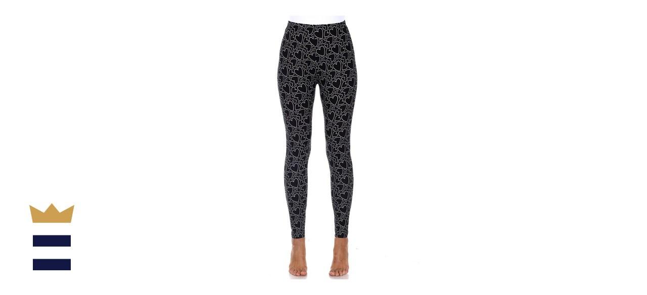 White Mark Womens Super Soft Printed Leggings
