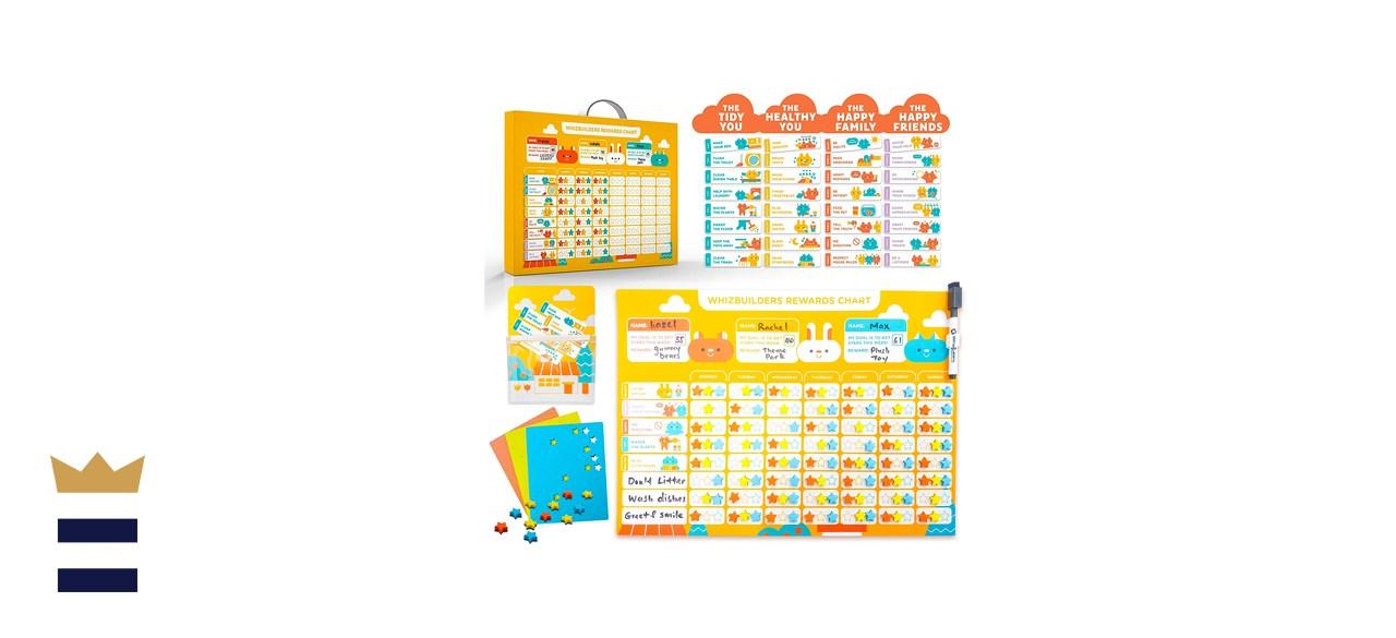 WhizBuilders Behavior Chore Reward Chart for Multiple Kids