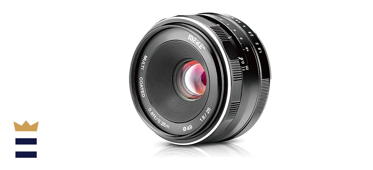Meike 25mm F1.8 APS-C Large Aperture Wide Angle Lens Manual Focus Lens for Sony E
