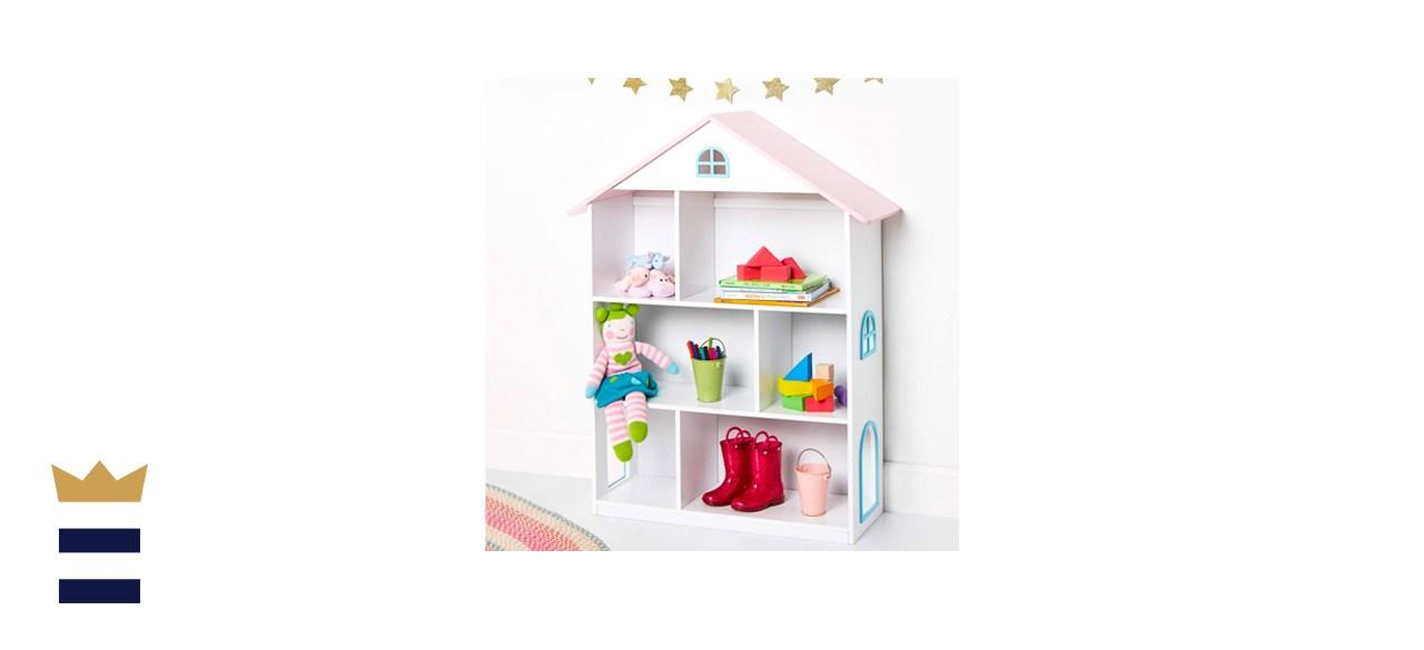 Wildkin Kids Wooden Dollhouse Bookcase