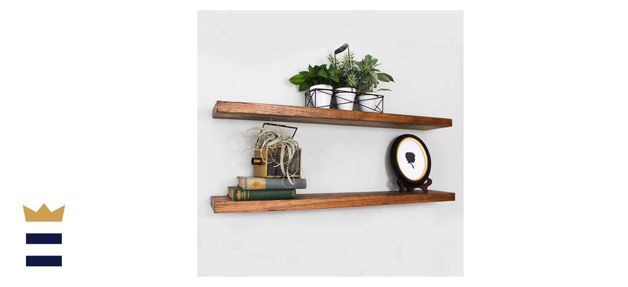 Willow & Grace Long Floating Wall Shelves