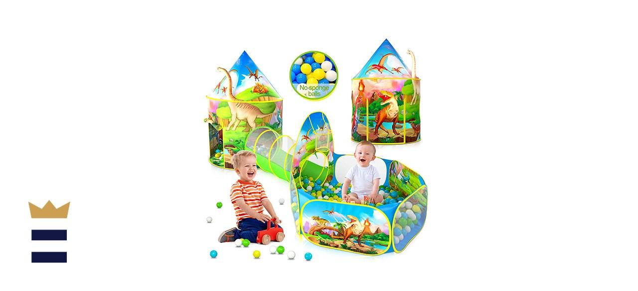 Wilwolfer 3PC Dinosaur Kids Play Tent