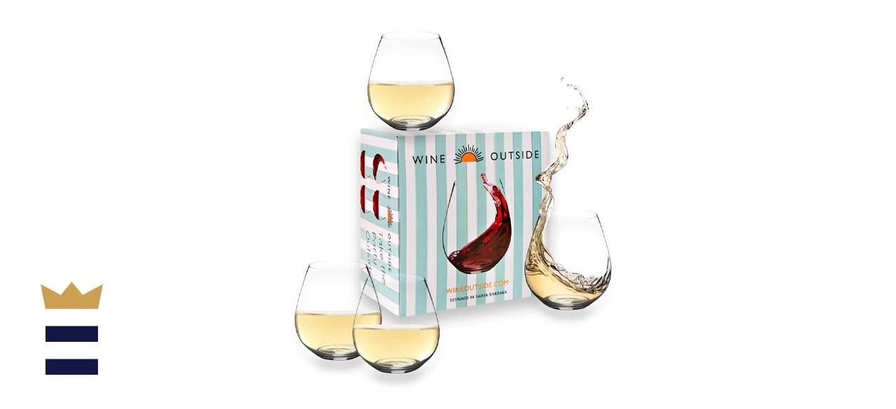 Wine Outside Unbreakable Tritan Wine Glasses