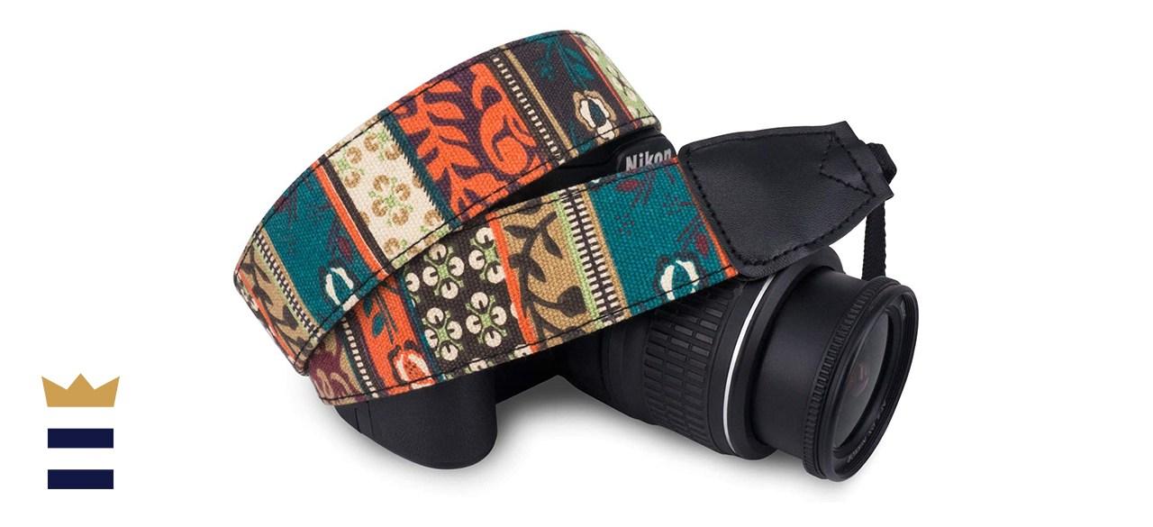 Wolven Pattern Canvas Camera Neck Shoulder Strap Belt