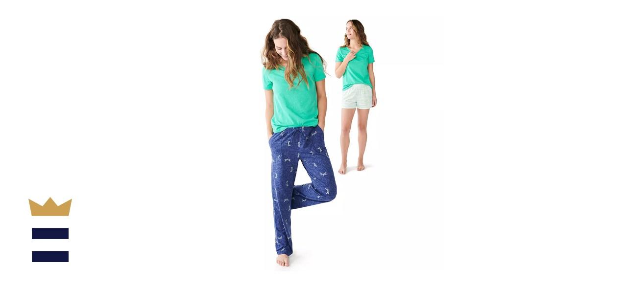 Women's Sonoma Goods For Life 3-pc. Pajama Top, Pajama Pants and Pajama Shorts Set
