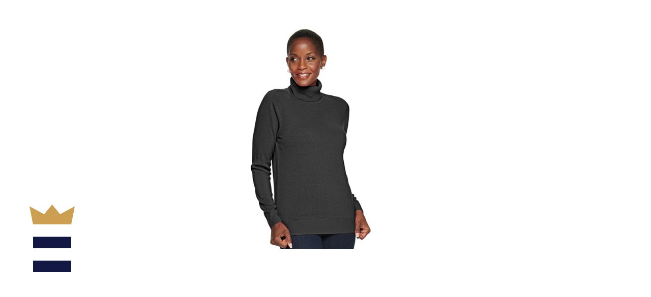Women's Croft and Barrow Extra Soft Turtle Neck