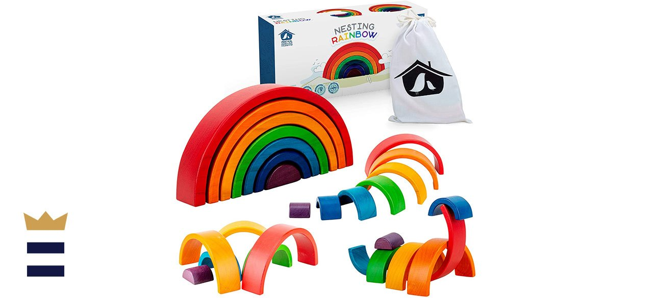 Wooden Rainbow Stacker by Practical Nesting