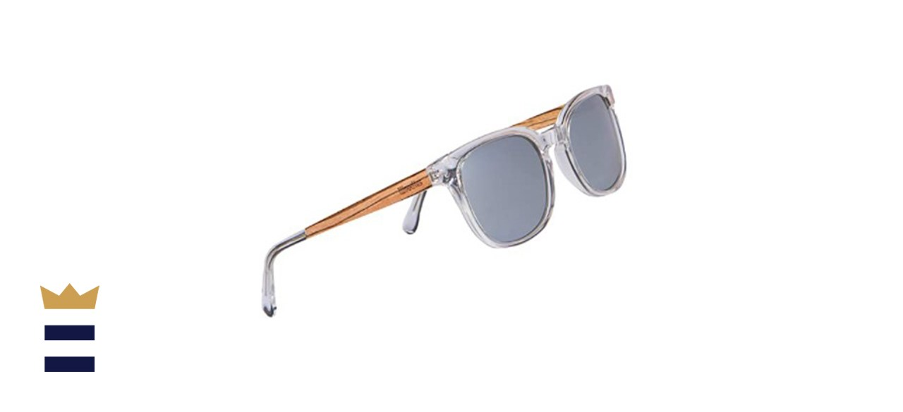 Woodies Clear Acetate Sunglasses with Polarized Lens