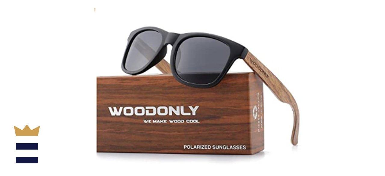 WOODONLY Retro Wood Polarized Sunglasses