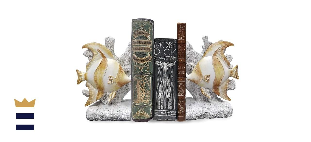 World of Wonders Elegant Angelfish Bookend Set
