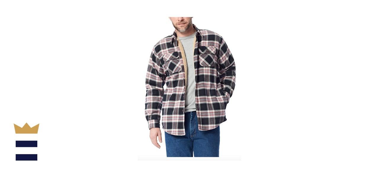 Wrangler Authentics Long Sleeve Sherpa Lined Shirt Jacket