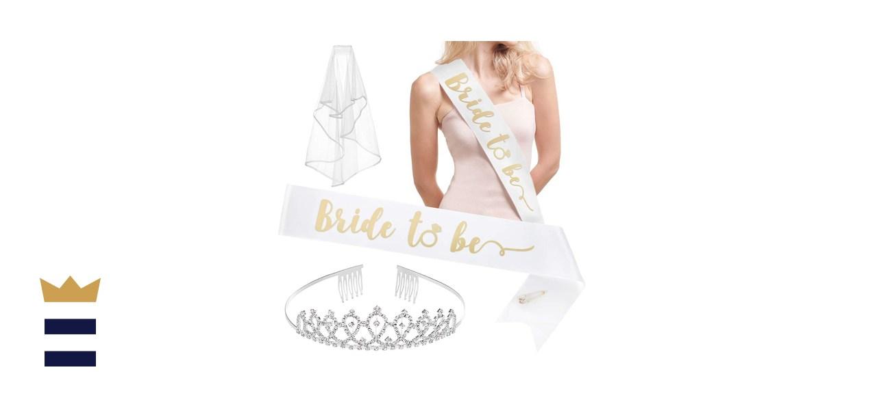 xo, Fetti Bachelorette Party Bride to Be Decorations Kit
