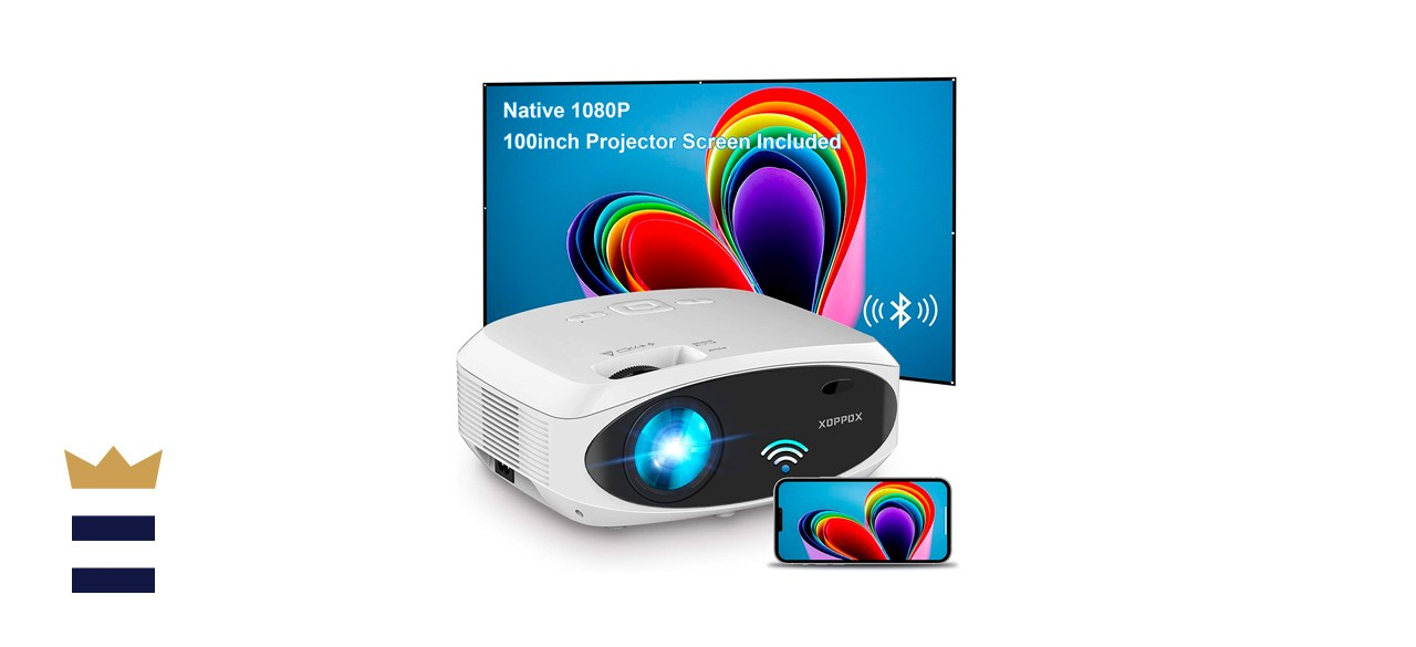 XOPPOX Projector Bluetooth HD Outdoor Movie Projector