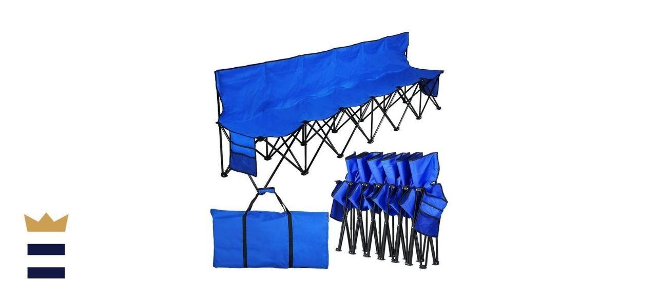 Yaheetech's Folding Sideline Bench