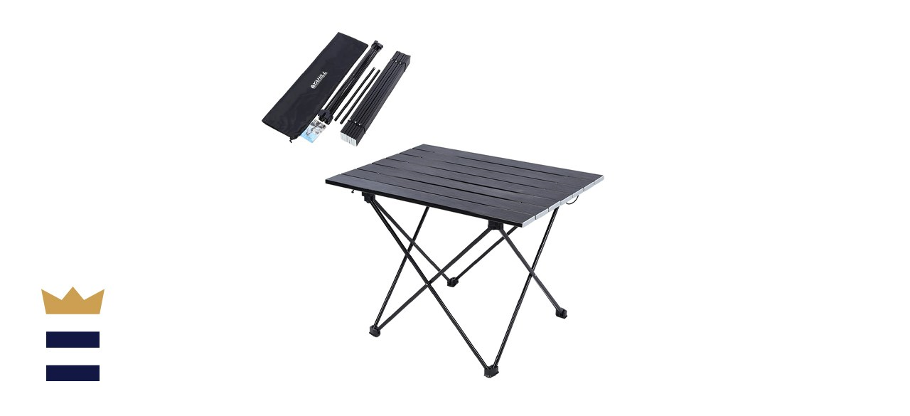 YAHILL Aluminum Folding Collapsible Camping Table