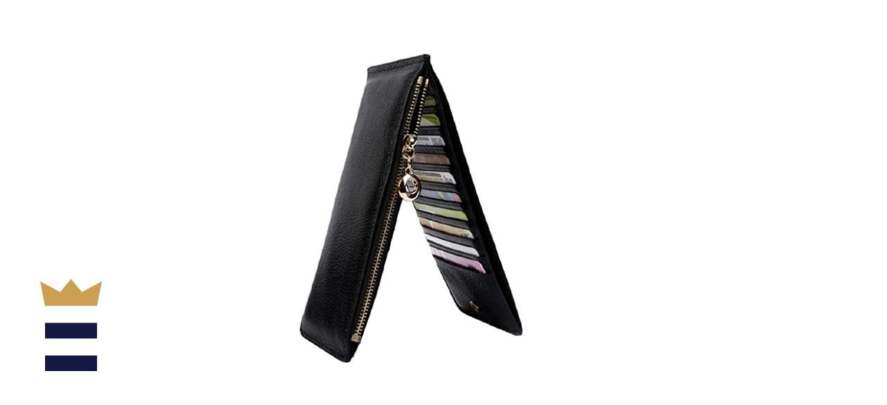 YALUXE Women's RFID Blocking Multi-Card Organizer Wallet
